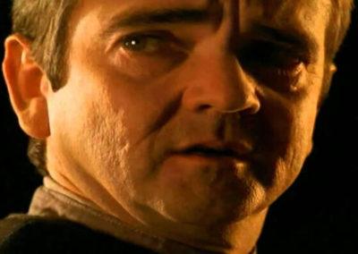 A grown up John Franklin as Isaac