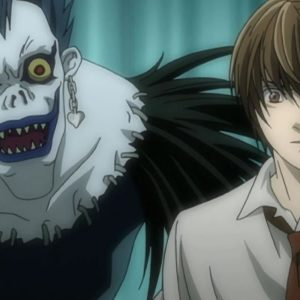 Ryuk and Light from Death Note